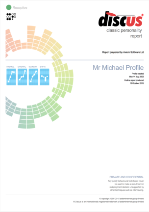 Discus Example Personality Reports